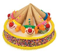 Clown Cone Sprinkles Cake